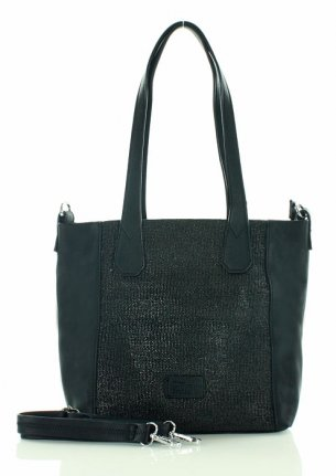 FURRINI Torebka shopper bag czarna