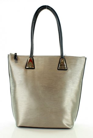 MONNARI Trapezowy shopper bag srebrny