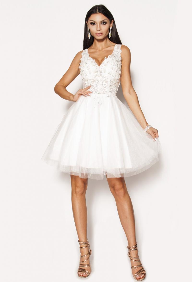 126a41ac19 Śliczna sukienka z koronki Model  IP-2073  295.00zł  - Mini ...