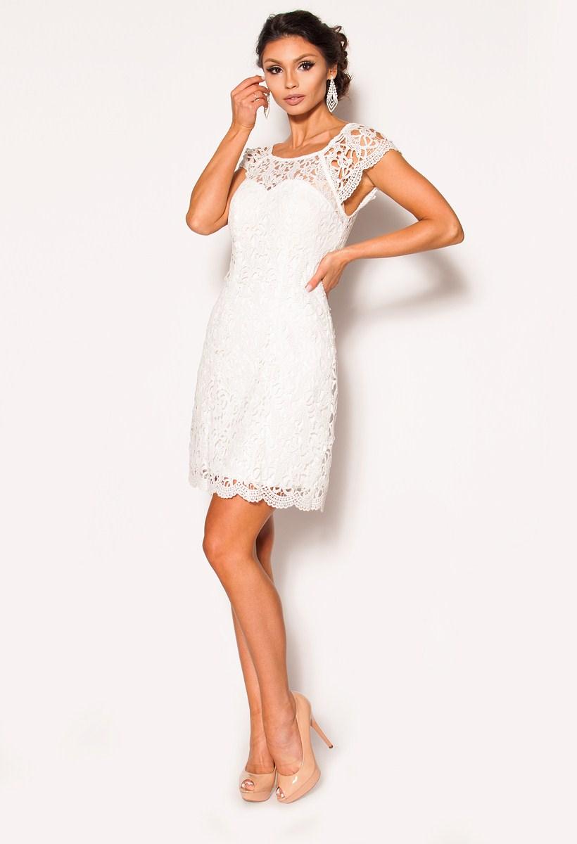 b52c84b20f Elegancka sukienka z koronki Model  PW-2537  319.00zł  - Mini   Sukienki -  Sklep internetowy - Sukienkimm