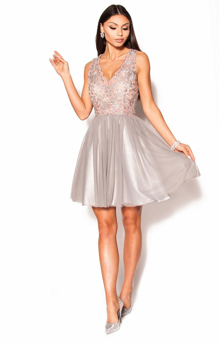 17256cdf SukienkiMM.pl: Rozkloszowana sukienka koronkowa Model: PW-2618