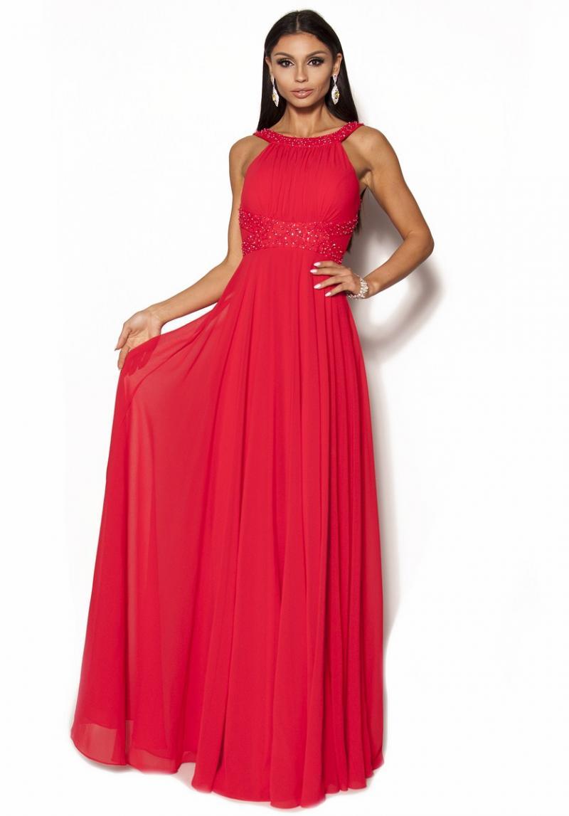 9e8793181a Elegancka sukienka w kolorze czerwonym Model PW-2604  419.00zł ...