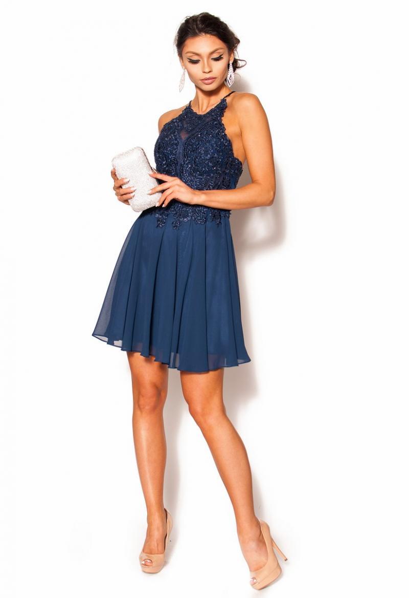 49c3c1c4b0 Elegancka sukienka w kolorze granatowym Model PW-2695  319.00zł ...