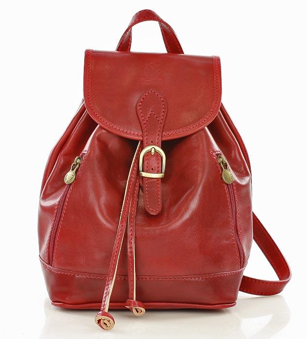 3ee3bb5c8648a Włoski plecak skórzany VALENTINO czerwony  315.00zł  - skórzane ...
