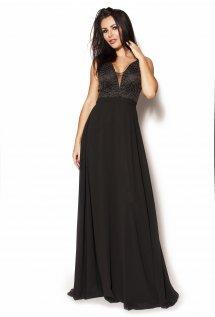 4659356df6 Długa czarna elegancka sukienka Model IP-2775