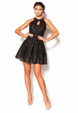 a20c8dc50b Czarna elegancka sukienka Mini Model MOR-2779  279.00zł  - Mini ...