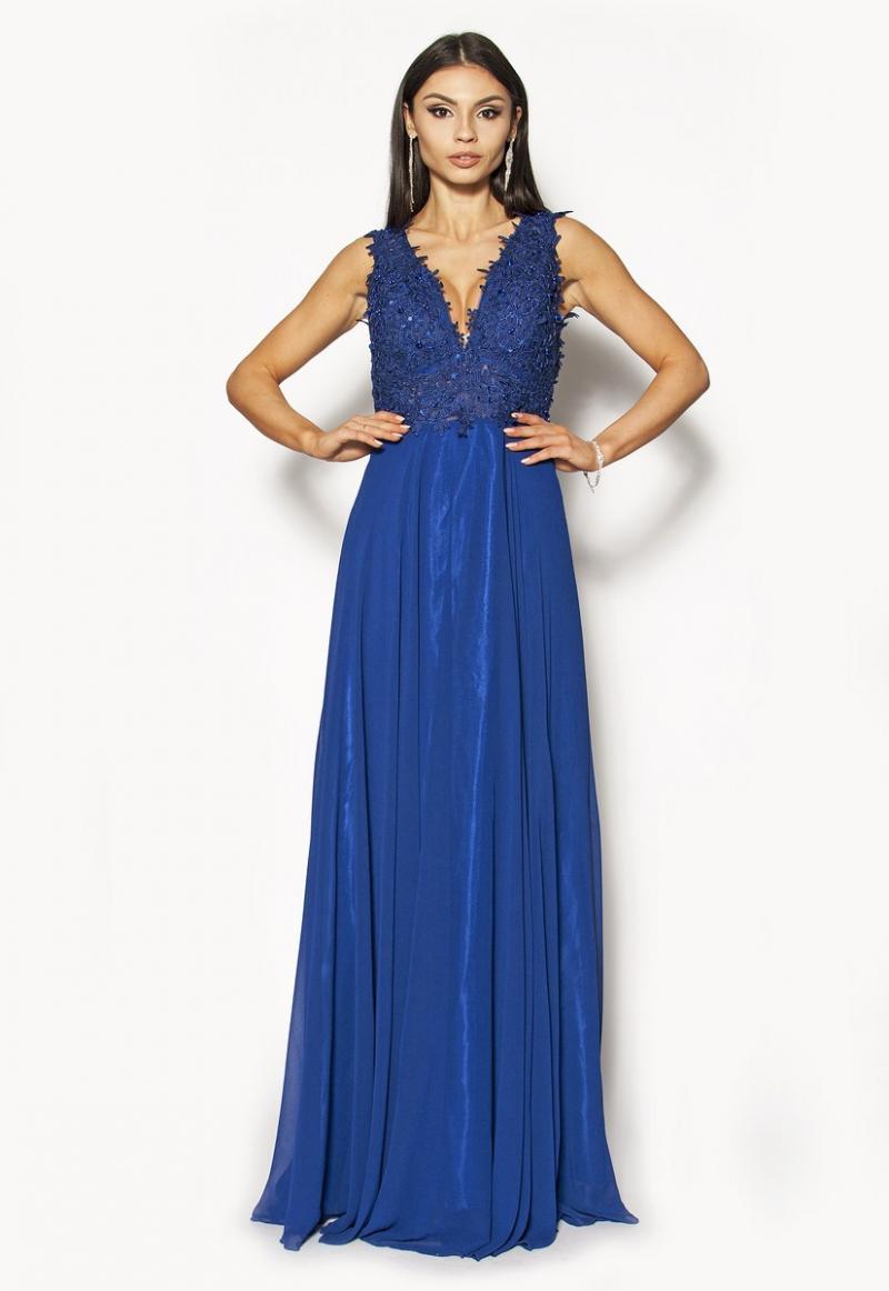 4df481f56e Długa szafirowa elegancka sukienka Model  IP-2955  345.00zł  - Maxi ...