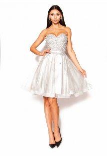 71ba2aace8 Elegancka sukienka w kolorze szarym Model  IP-3739