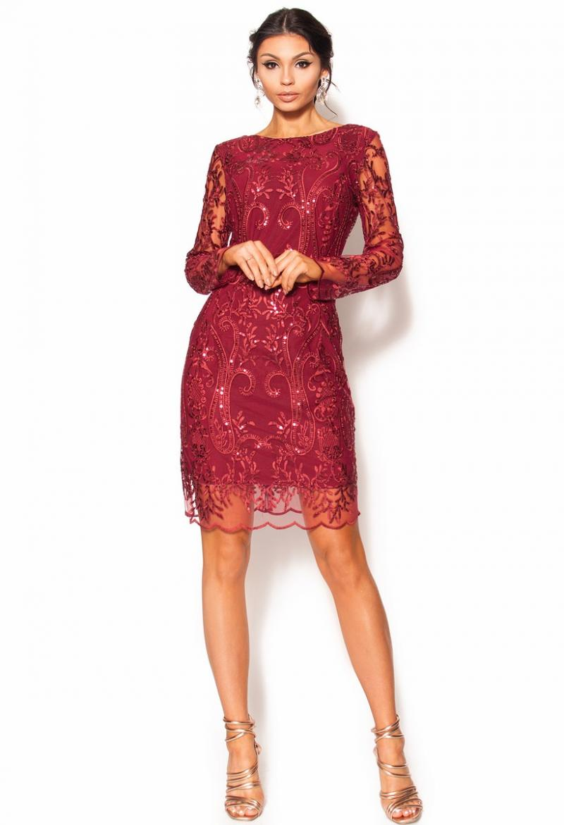 e61ef25e7b Dopasowana sukienka mini z wycięciem na plecach Model  RO- 3566 ...
