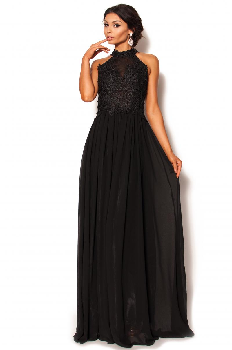 3620ece68f Długa czarna sukienka Model  IP-3804  345.00zł  - Maxi   Sukienki ...