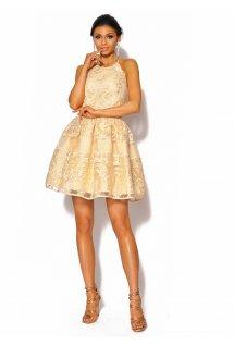 661130ec41 Rozkloszowana sukienka w kolorze ecri Model  MOR-4026