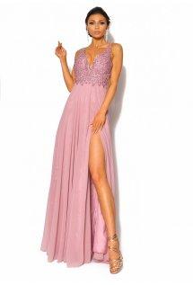 10745f5036 Delikatna sukienka maxi z odkrytymi plecami Model  IP-4037