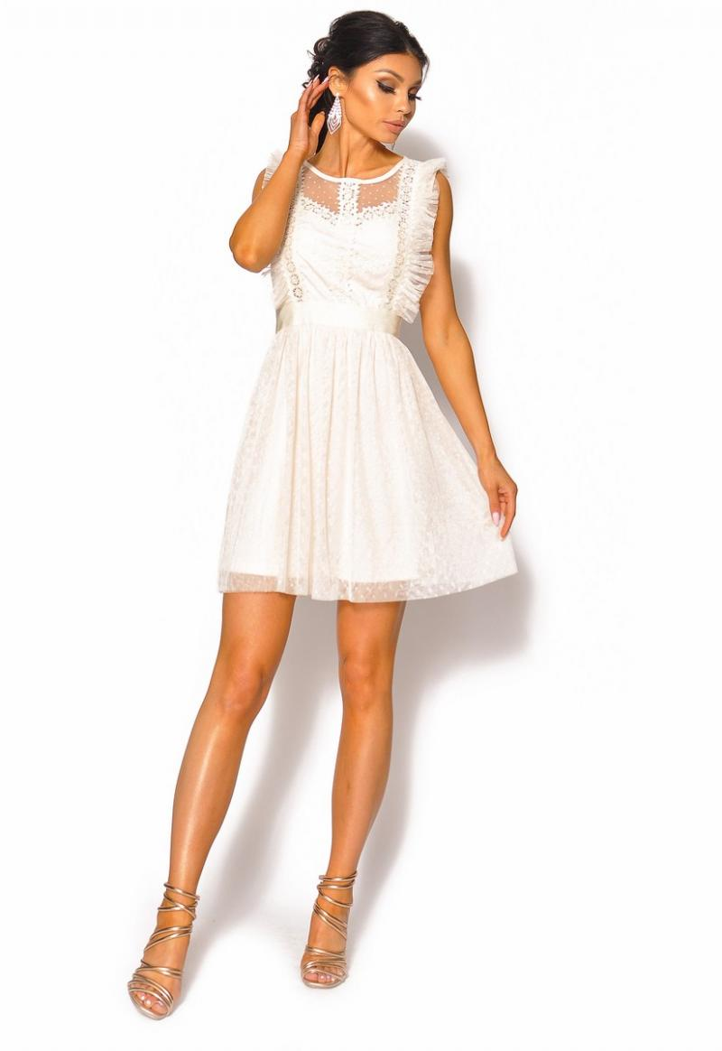 5a351788 Delikatna sukienka odcinana w pasie Model: IP-4088