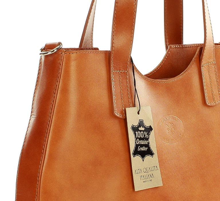 60ce623f4aa48 Torebka włoski shopper bag ze skóry naturalnej MAZZINI - Azara camel. I ...