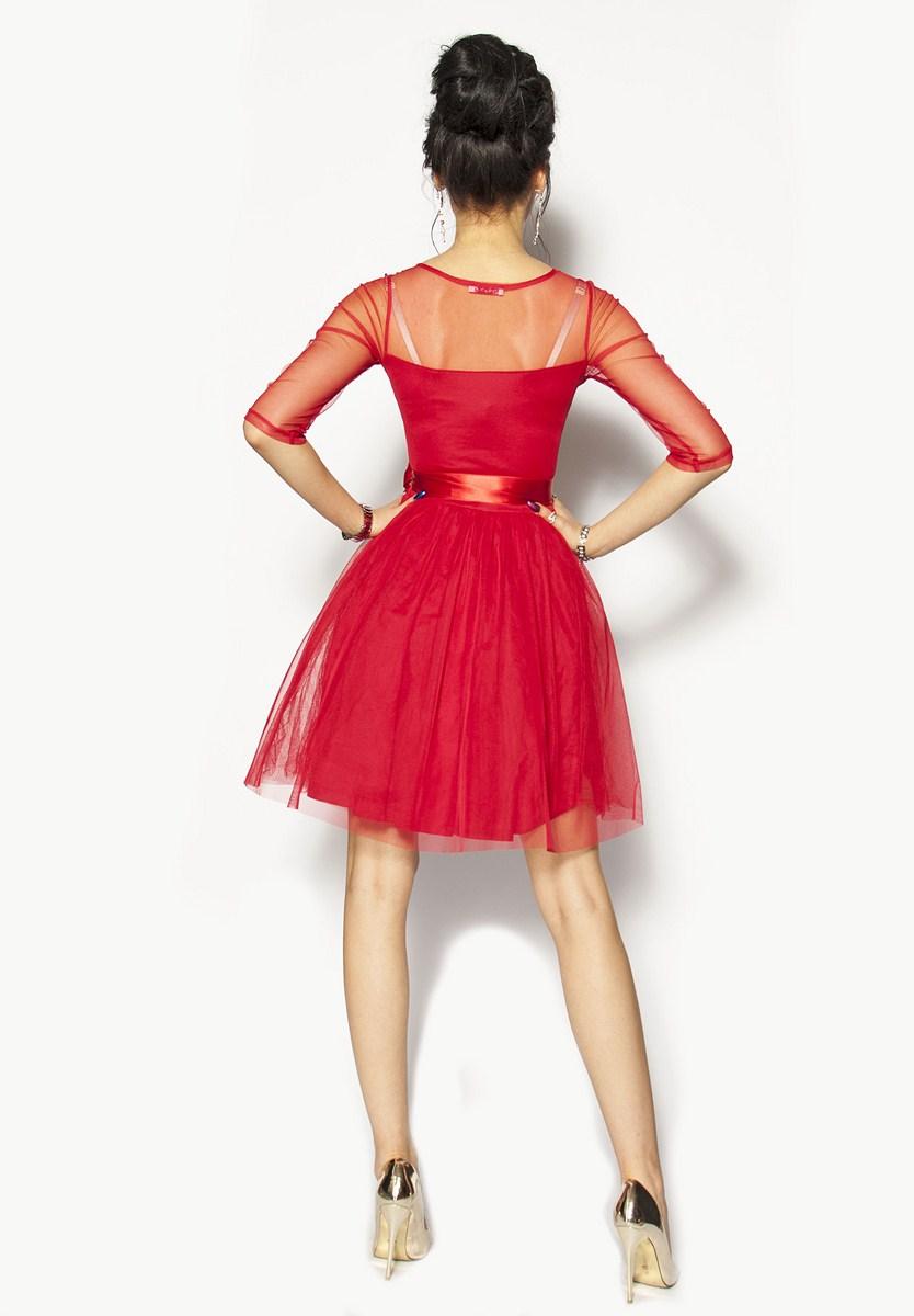 8e5603522e Czerwona sukienka z rękawkiem Model M-2760  255.00zł  - Mini ...