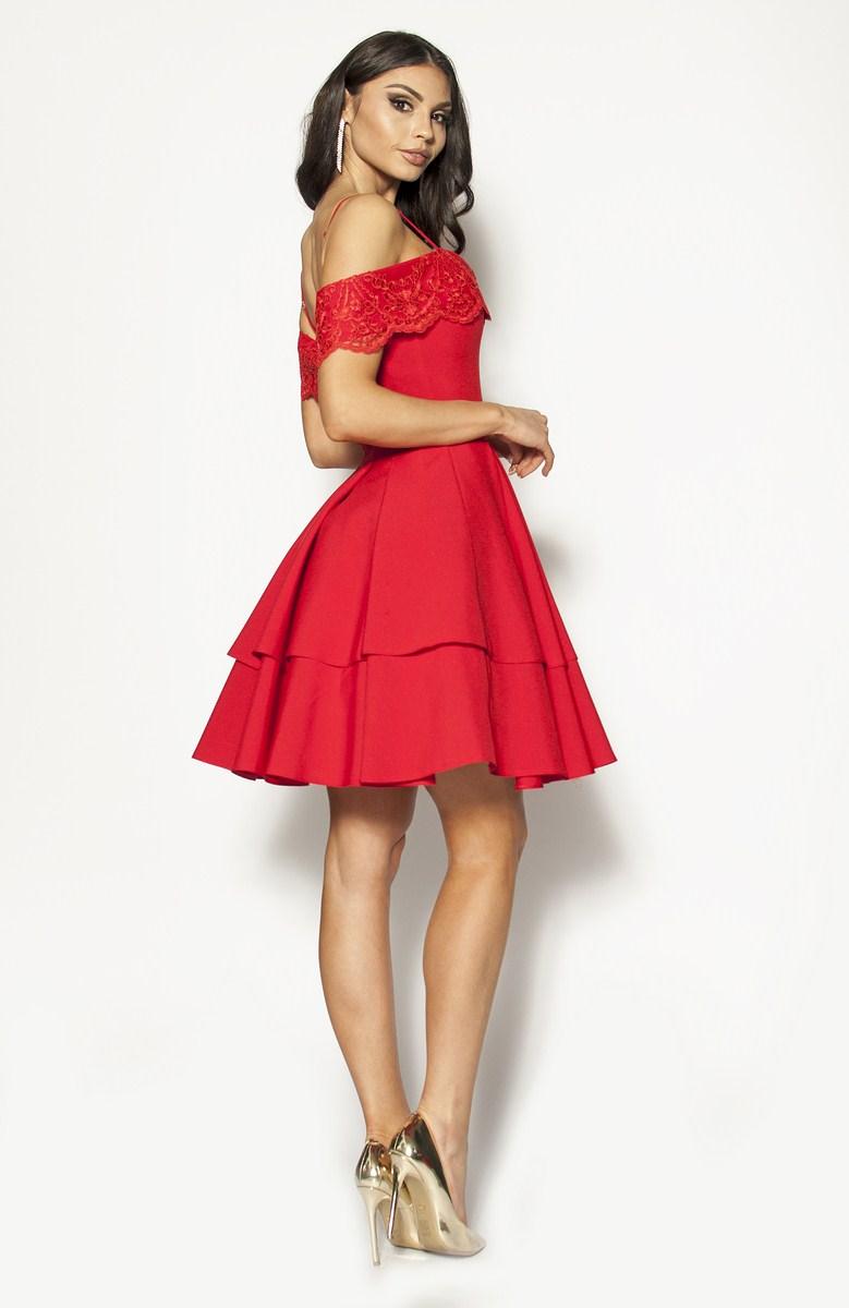 2b8d306f87f6 Piękna czerwona Sukienka Model  BI-3001  275.00zł  - Mini   Sukienki ...