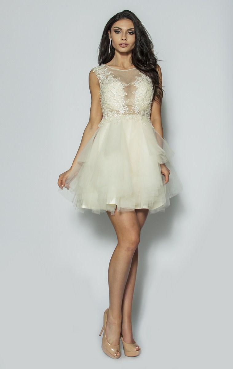 Niewiarygodnie Elegancka sukienka z kryształkami Model:PW-3012 [375.00zł] - Mini CG87