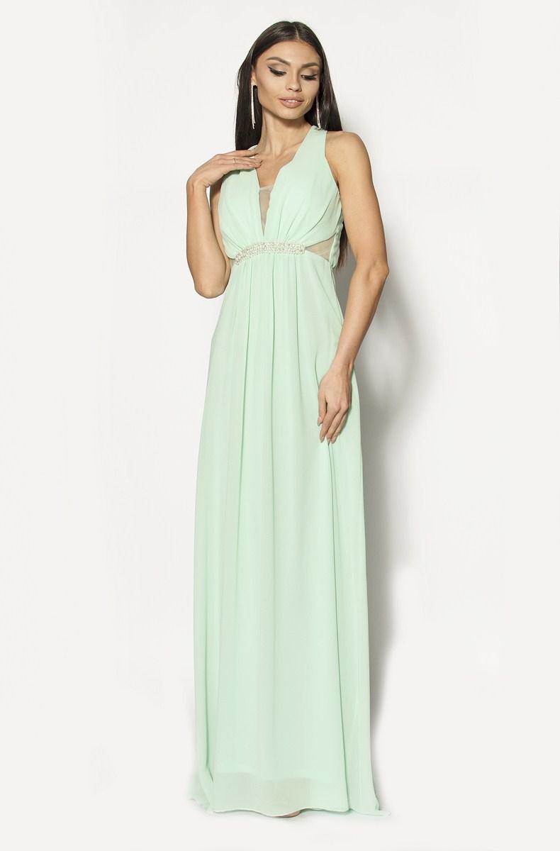 f3681fea9f Śliczna zwiewna sukienka w kolorze miętowym Model  IP-3053  319.00zł ...