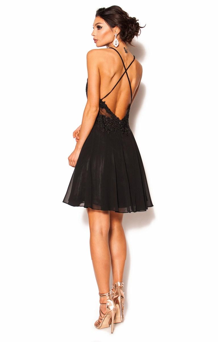 5345eb78f4 Czarna sukienka z odkrytymi plecami Model PW-2745  319.00zł  - Mini ...
