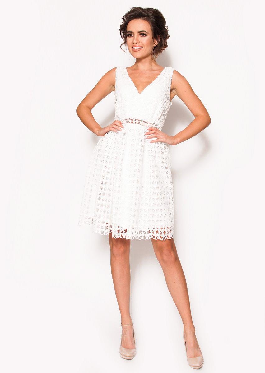 c0b709e7 Biała delikatna sukienka mini Model: IP-3920