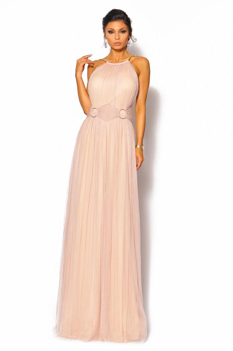 23f72b57e5 Plisowana sukienka maxi ze złotymi okręgami Model  IP-4053  295.00zł ...