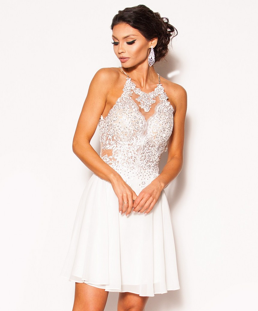9ff652a1e1 Elegancka sukienka z odkrytymi plecami Model PW-2701  319.00zł ...