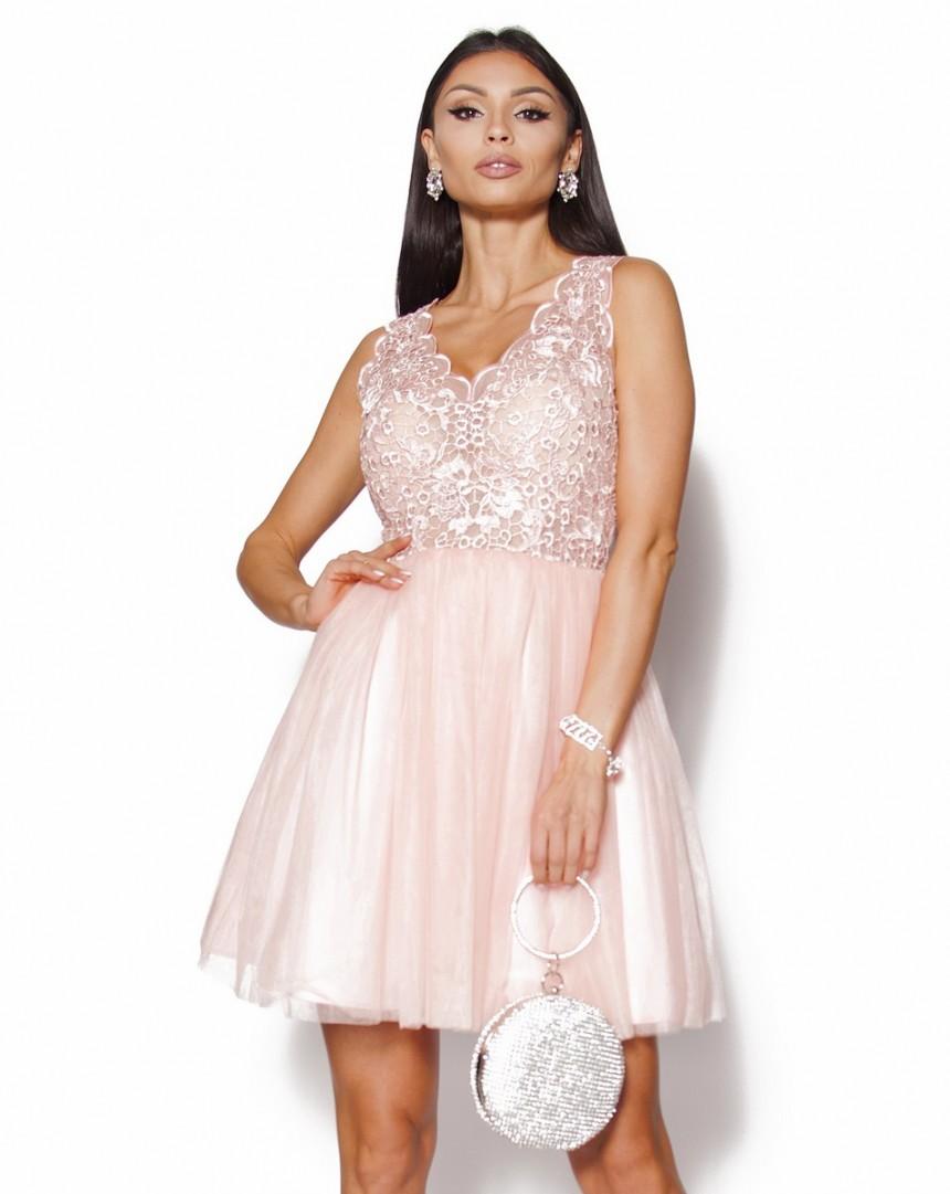 b4a455facb Rozkloszowana sukienka koronkowa Model  PW-2288  319.00zł  - Mini ...