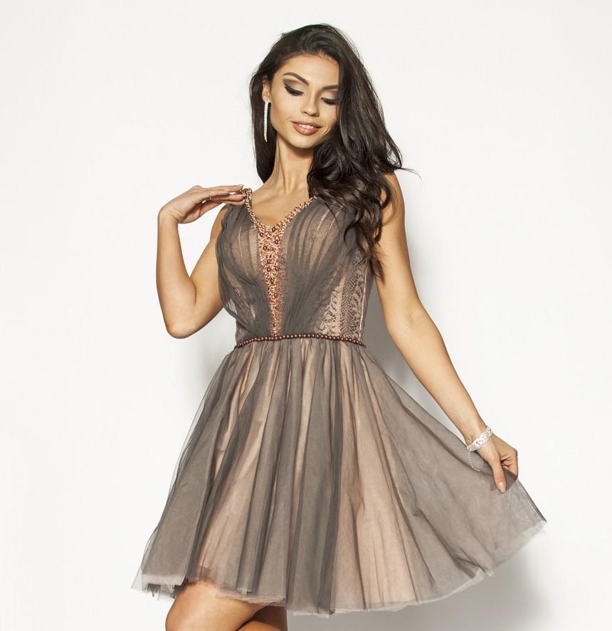 a4da2bf228 Śliczna zwiewna elegancka sukienka Model  PW-3021  335.00zł  - Mini ...